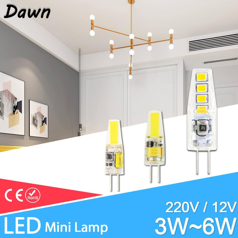 GreenEye  LED G9 G4 Lamp Bulb AC/DC 12V 220V 3W 6W 10W COB SMD LED G4 G9 Dimmable Lamp Replace Halogen Spotlight Chandelier