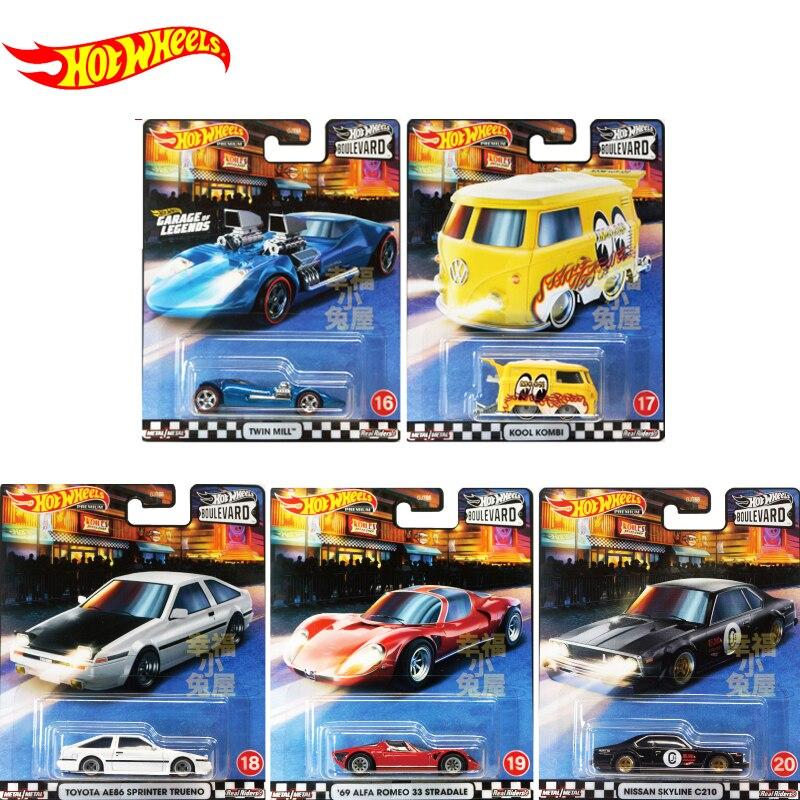 Original Hot Wheels Car Kids Toys Boys Hotwheels Car Diecast 1/64 Alloy Toys Car for Children Birthaday Gift BOULEVARD GJT68