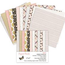 Papier artisanal motif fleur, 24 feuilles, pour Scrapbooking, Origami, carte de fond artistique, pour bricolage