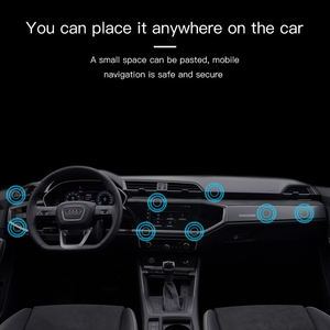 Image 4 - Universal mini Strip Shape Magnetic Car Phone Holder Stand For iPhone Samsung Huawei wall metal Magnet GPS Car Mount Dashboard