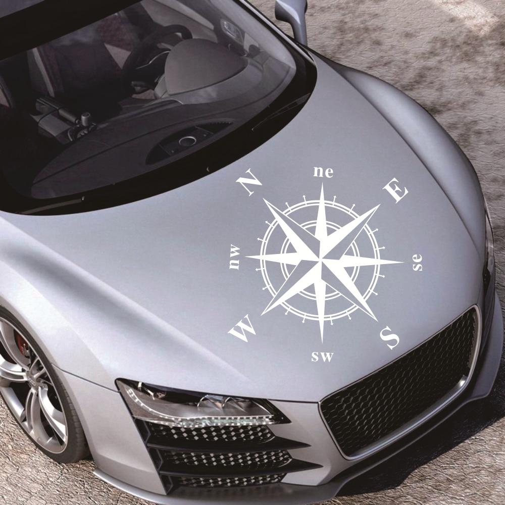 New 50cm*50cm Car Compass Totem Sticker Art Design Vinyl Compass Car Stickers And Decals Hood Sticker Cover Body Applique