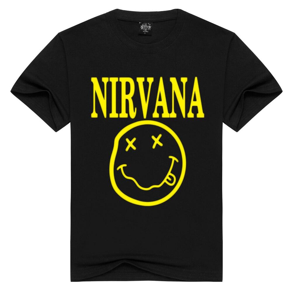 Nirvana T-shirts Men/Women Summer Cotton Tops Tees Print T Shirt Men Loose O-neck Short Sleeve Fashion Tshirts Plus Size S-3XL