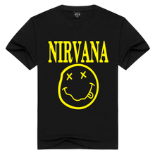 Print T-Shirt Tees Short-Sleeve Cotton Tops Nirvana Summer Men/women O-Neck Loose Plus-Size