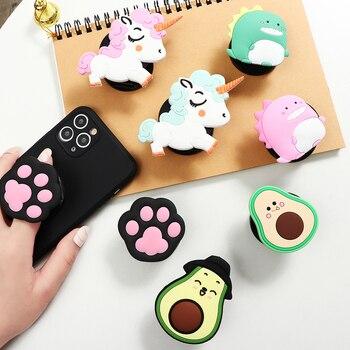 Расширяющийся складной держатель для телефона, подставка, палец, кольцо, анти-осенний круглый мобильный смартфон, планшеты для Apple iPhone 3D милое животное
