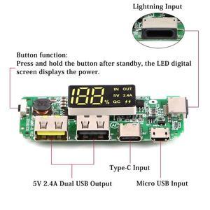 Image 2 - USB 2.4A נייד כוח בנק מודול סוללת מטען לוח תמיכת Dropshipping