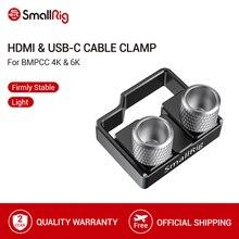 SmallRig Per BMPCC 4K 6K Cavo HDMI USB C Morsetto del Cavo per Blackmagic Design Pocket Cinema Cavi Foto/videocamera Pinza Di montaggio 2246
