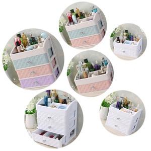 Image 5 - Plastic Drawer Makeup Organizer Cosmetic Beauty Box Nail Desktop Storage Case Brush Lipstick Nail Polish Container Bathroom Item