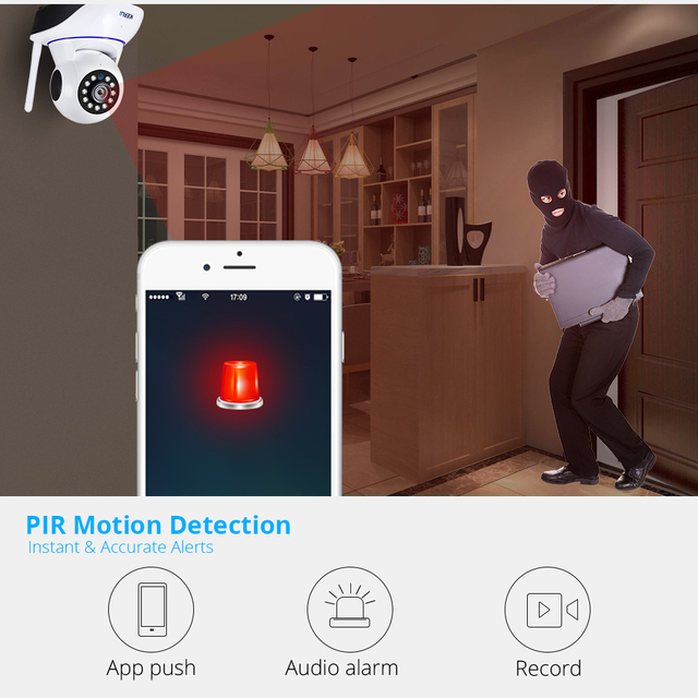 KERUI 720P 1080P Mini cámara de seguridad inalámbrica para interiores Wifi IP cámara de vigilancia CCTV para el hogar 1MP 2MP Tuya Smart Life visión nocturna