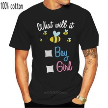 O sexo revela camisa de festa o que será bee-menino ou sexo menina revelar idéias streetwear camiseta