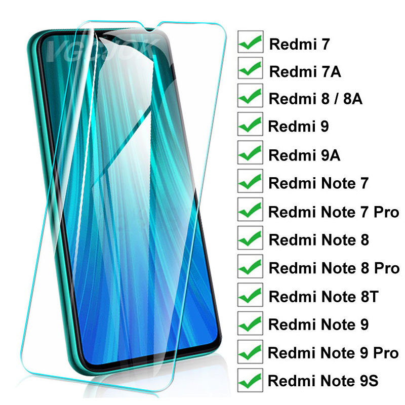 15D Protection Glass For Xiaomi Redmi 8 8A 7 7A 9 9A 9C Tempered Screen Protector On Redmi Note 8T 9