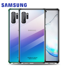 Samsung Note 10 Plus Case Original Clear Hard Cover Transparent PC Plating SAMSUNG Galaxy Note 10 Plus 5G Note10 Plus Back Case samsung note 10 plus case original clear hard cover transparent pc plating samsung galaxy note 10 plus 5g note10 pro back case