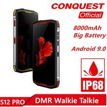 Conquest S12 Pro 4G IP68 Rugged Smartphone Shockproof 5.99 Inch IPS Android 9.0 6GB 128GB NFC Outdoor Walkie Talkie Mobile Phone