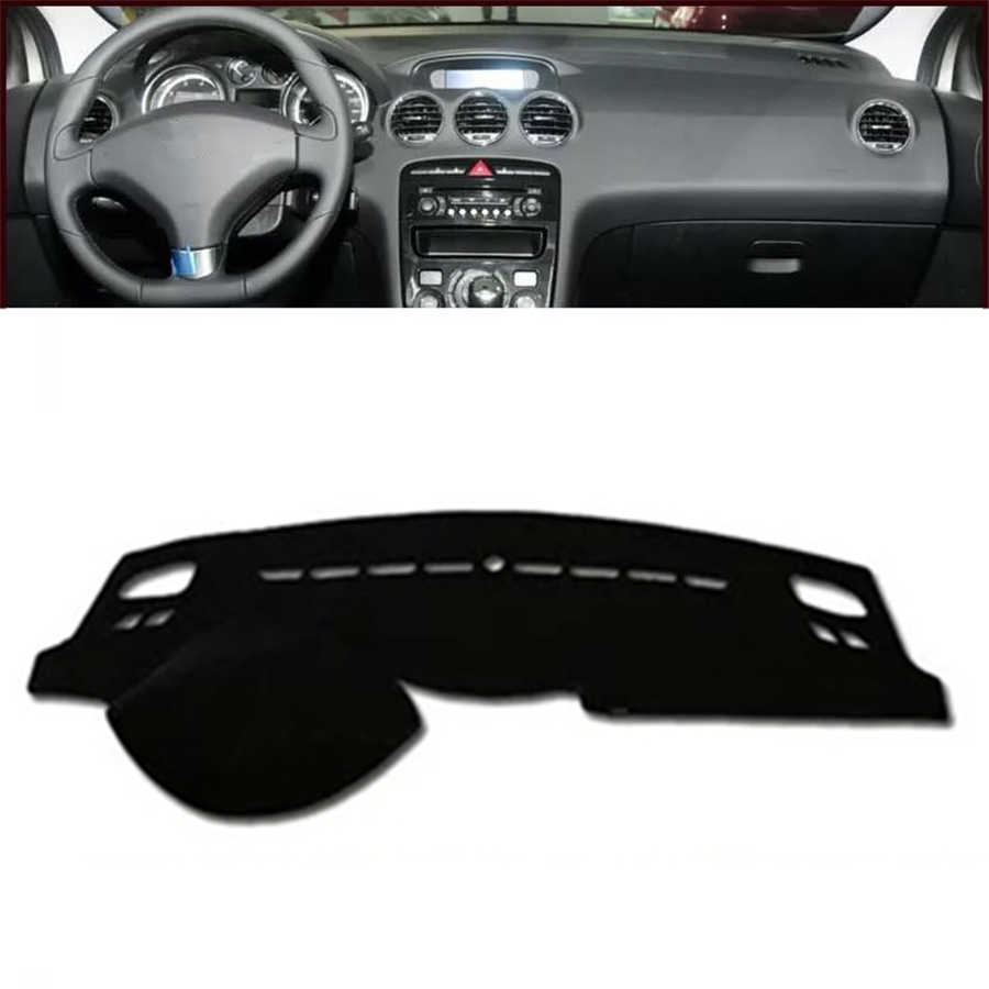 SJ Car Inner Auto Dashboard Cover Dashmat Pad Carpet Sun Shade Dash Board Cover Fit For Peugeot 308 2008 2009 2010 2011 2012 13