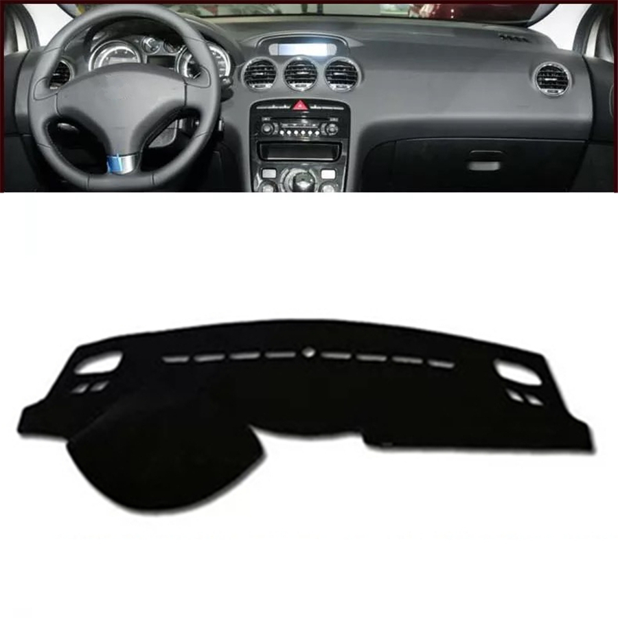 SJ Car Inner Auto Dashboard Cover Dashmat Pad Carpet Sun Shade Dash Board Cover Fit For Peugeot 308 2008 2009 2010 2011 2012 13 image