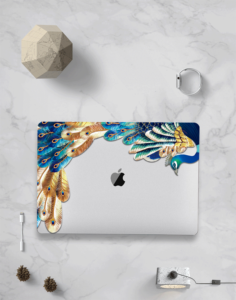 Crystal Feather Hard Colored Case for MacBook 19