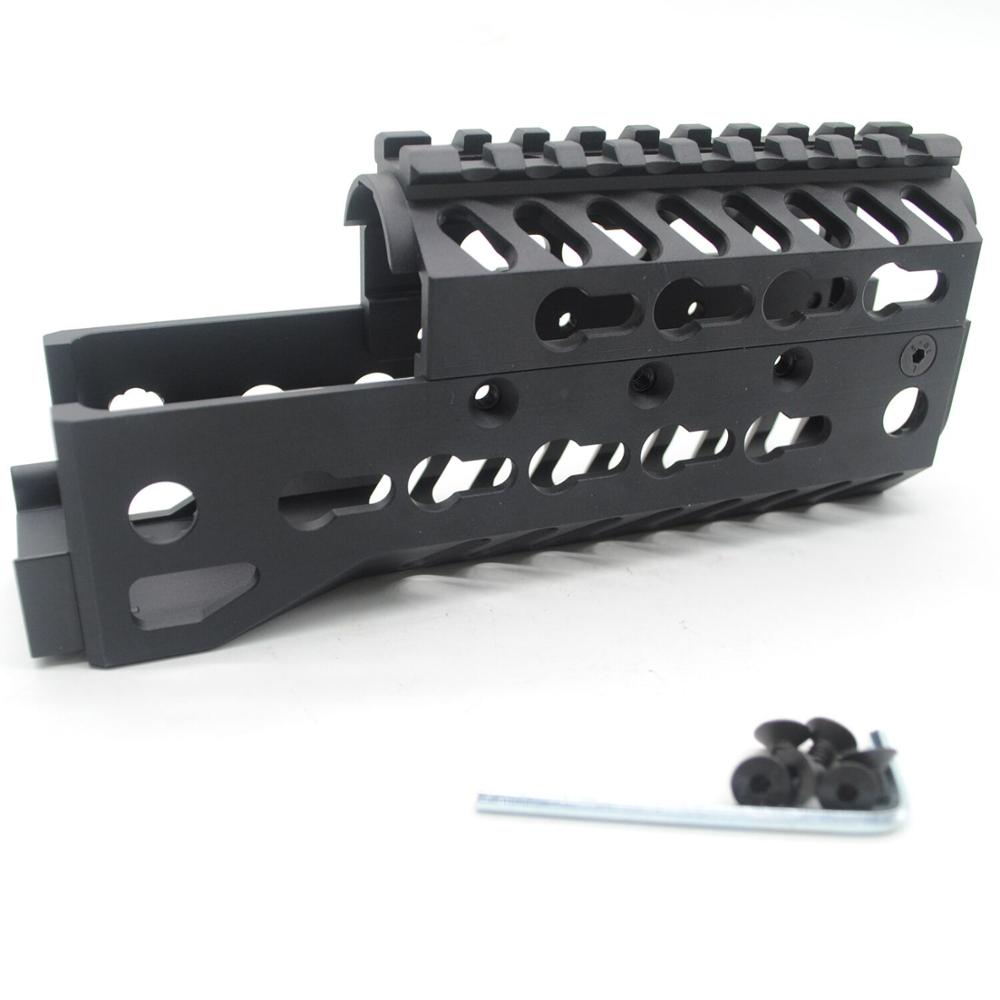 Aplus 6.5'' inch AK Design Keymod Handguard Rail Free Float Picatinny Mount System_Black Anodized AK 47 Two Parts(China)