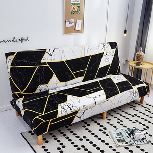 Image 2 - Modern Geometric Print Folding Sofa Bed Cover Without Armrest Universal Stretch Couch Cover Furniture Slipcover Sofa Protector