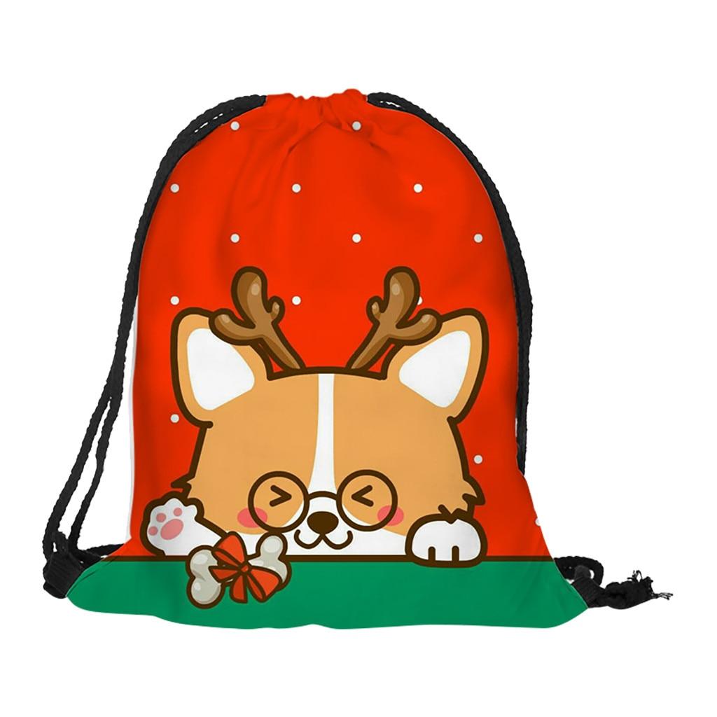 Sleeper #P501 Drawstring Bag 2019 FASHION Christmas Gift Bag Casual Drawstring Bag Flower Printed Storage Bag Hot Free Shipping