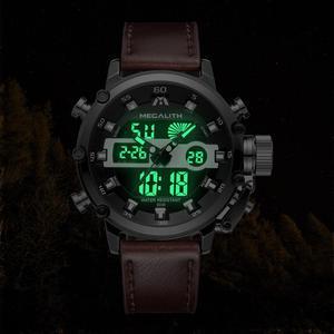Image 4 - Megalith Mode Mannen Led Quartz Horloge Mannen Militaire Waterdicht Horloge Sport Multifunctionele Horloge Mannen Klok Horloges Mannen