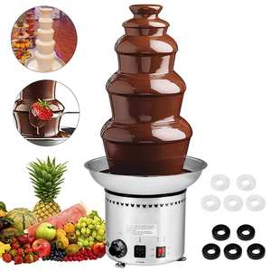 Chocolate-Fountain for Party Wedding 5-Tier Commercial Stainless-Steel 68CM