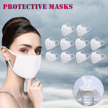 #H30 10pcs Face Mask White Mouth Mask Reusable Mask Washable Mascarillas Face Shield Masque Facial Mask Drop Ship