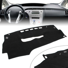 Black Auto Dash Mat Dashboard Cover Dashmat For Toyota Prius 2010 2011 2012 2013 2014 2015 LHD