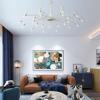 Modern Decor Hotel Hall Chandelier Lighting Creative Design Living Room Decor Hanging Lamp Black Supension Dining Lamp Lustre