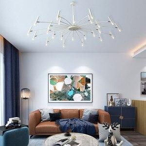 Image 5 - モダンな装飾ホテルホールシャンデリア照明クリエイティブデザインリビングルームの装飾ランプ黒 supension ダイニングランプ光沢