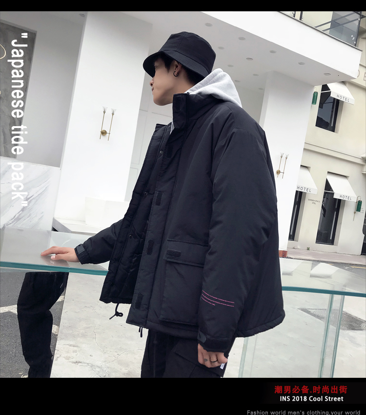 Men's Quality Student Winter Clothes Jacket Men Parka Thick Warm Outwear Korean Youth Streetwear Hip Hop Japan Style Harajuku 6