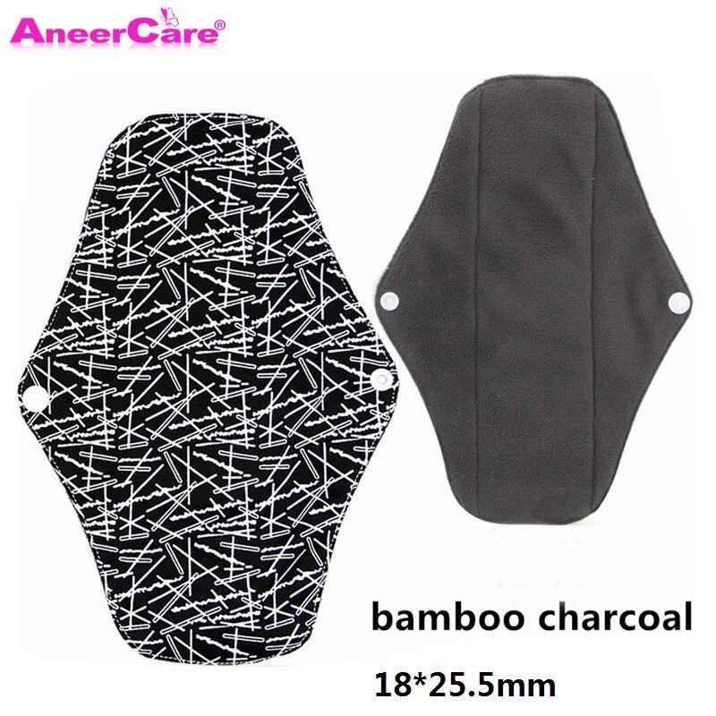 5 pcs Washable Sanitary Towel cloth menstrual pads reusable sanitary pad absorbent reusable charcoal cloth bamboo menstrual pads(China)