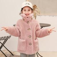 girl 2020 new fashion style Real fur and wool sheep shearing coat