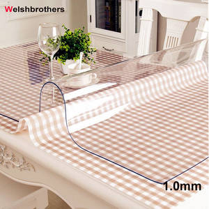 Table-Cloth Transparent-Cover Kitchen Plastic PVC Oilproof