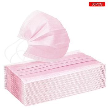 10/20/50/100pcs Disposable mouth mask diapers Earloop filter Non woven mouth masks 48 hours shipping