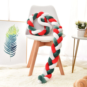 1M/2M/3M Baby Bumper Braid Knot Bed Cushion Crib Fence for Infant Protector Cot Bumper Room Decor