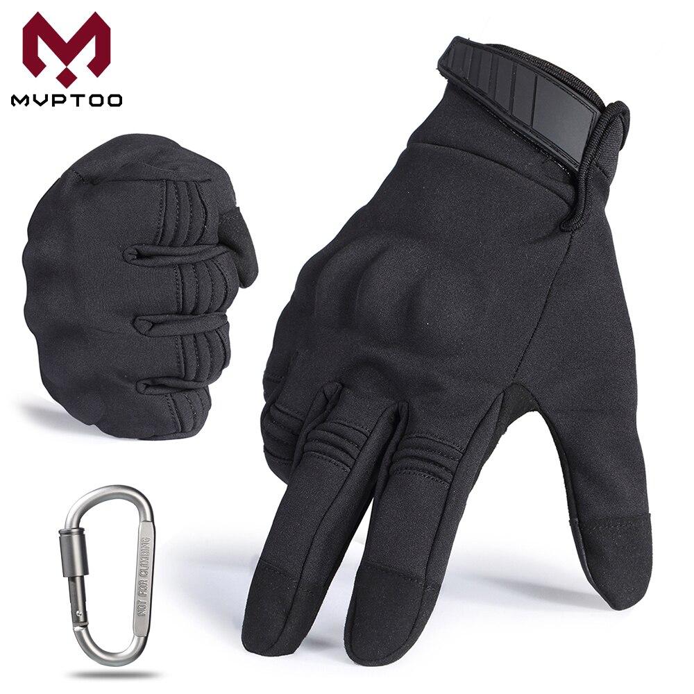 Touch Screen Motocross Gloves Motorcycle Cycling Moto Motorbike Protective Gear Biker Hard Knuckle Full Finger Glove Black Men