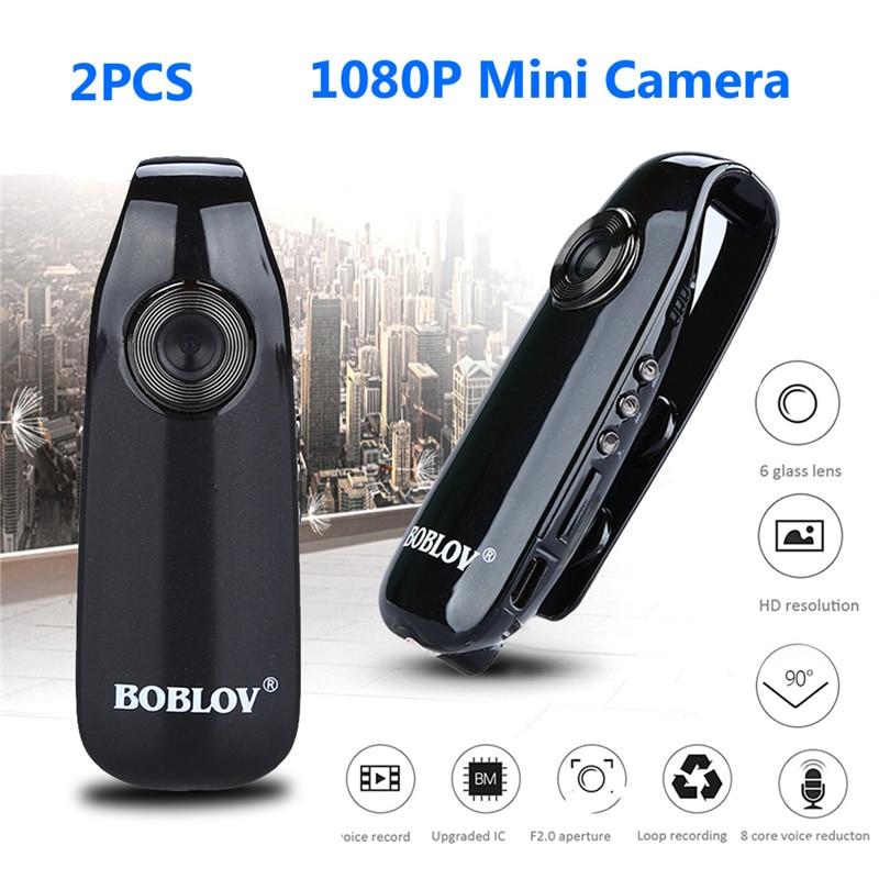 Body Camera 2PCS Boblov 007 Mini Digital Camera HD Law Enforcement Policja Cam Detection Recording Camcorder Camera Police