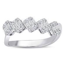 0.54 CT sa. Diamant Baguette anneau pratique artisanat personnalisé cadeau or Occasions spéciales conception brillant élégant bijoux