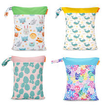 Happyflute детские сумки для подгузников с двойной молнией Влажная/сухая