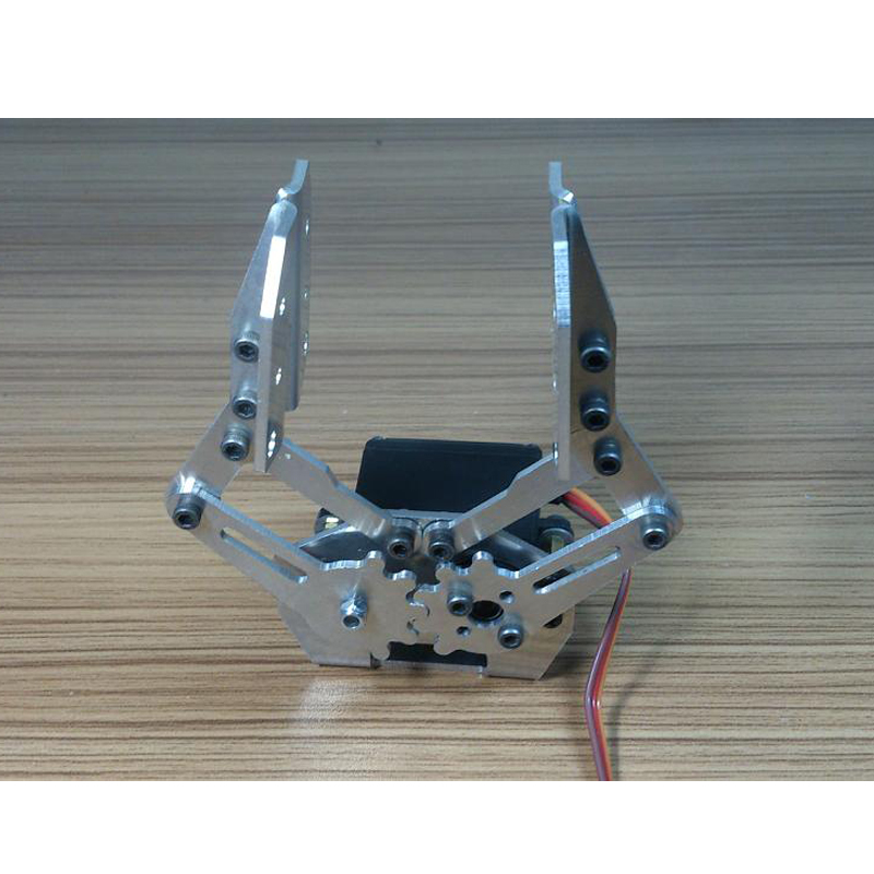 Silver Aluminum Alloy Gripper Robotic Arm Hand Metal Robot Claw With MG996r Servo For Arduino DIY Project Stem Toy Parts