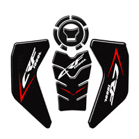 Fit for Honda CRF1000L 2017 2019 Motorcycle Carbon Fiber Gas Tank Pad Sticker Fish Bone Sticker Knee Grip Traction Side Pads