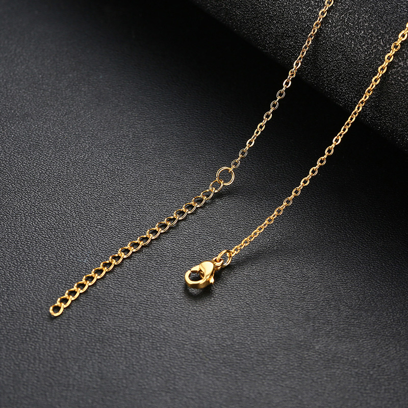 GOLD NAME NECKLACE IN STAINLESS STEEL PERSONALIZED NECKLACE PERSONALIZED JEWELRY GIFT LETTER NECKLACE
