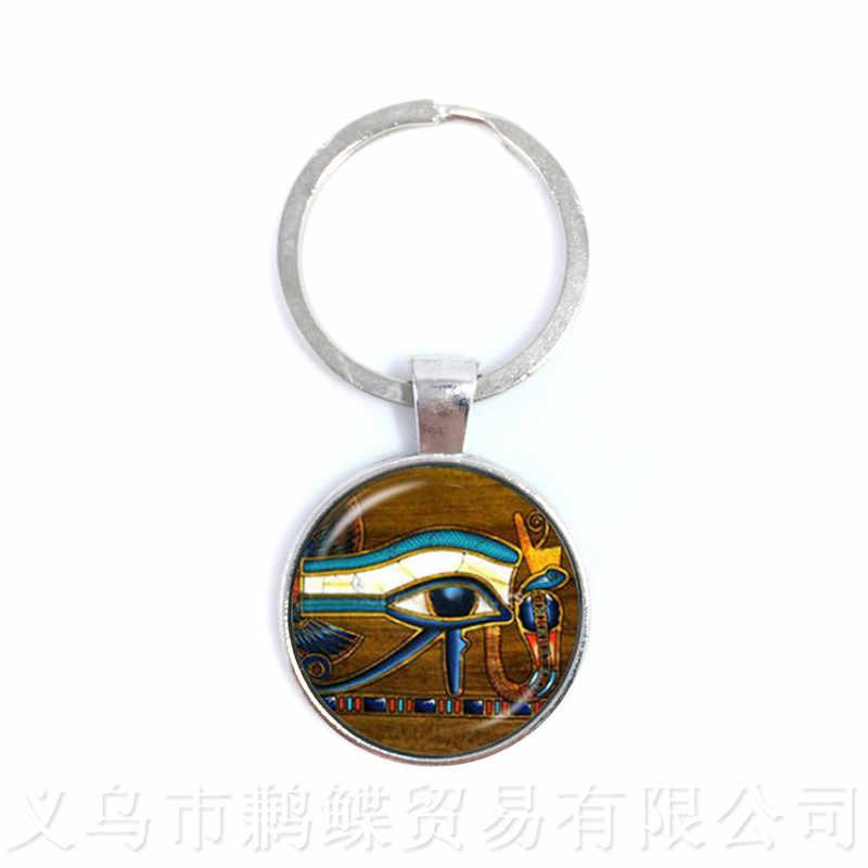 Soleil et lune maçonnique maçon porte-clés oeil de Providence porte-clés hommes antique égyptien Ankh pendentif religieux bijoux
