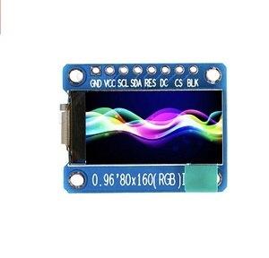 Módulo de pantalla LCD IPS de 0,96 pulgadas 80X160, TFT a todo Color 65K ST7735, controlador, pantalla LCD de 3,3 V, interfaz SPI, reemplazo de OLED