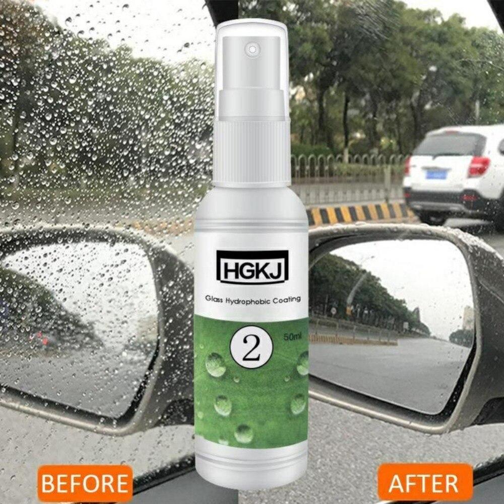 HGKJ-2-20ml Водонепроницаемый непромокаемый противотуманный агент, гидрофобное нанопокрытие, спрей для автомобильных окон, автомобильные аксе...