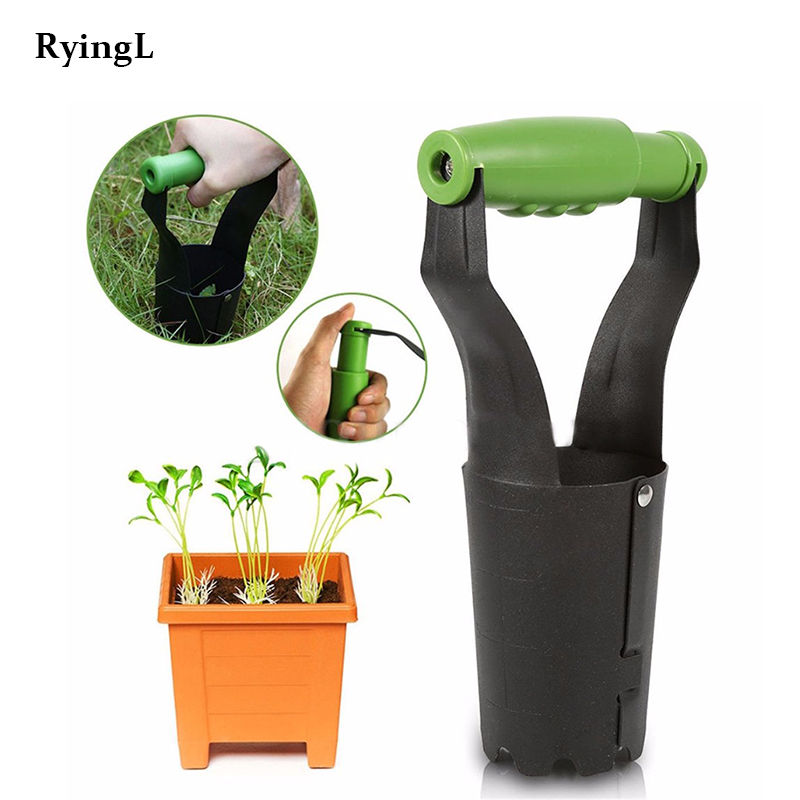 Automatic soil release excavation filler hole - Perfect garden bulb planting tool for growing tulips, daffodils, annual plants
