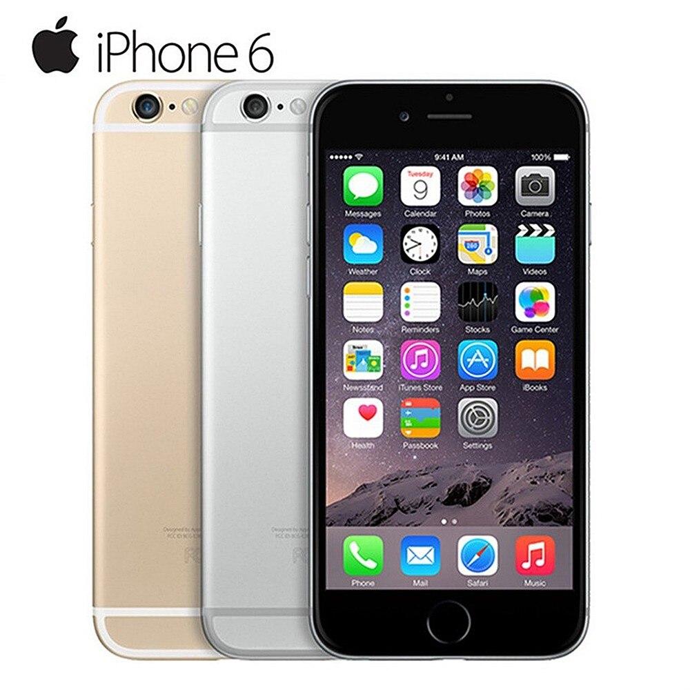 Remis à neuf Apple IPhone 6 double cœur IOS Smartphone 4.7 pouces IPS RAM 4G LTE téléphone portable iPhone 6 ROM 16G 32G 64G 128G