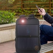 Solar Charging Business Backpack Men 14W Water Proof Black High-tec Back Packs Superior Pack Super cool different distinctive