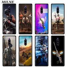 pubg Silicone Case Couqe For Sony Xperia 1 II 5 Soft Black Cover For Sony Xperia 10 II L4 TPU Phone Shell Bumper Fundas for fundas sony xperia l2 case cover soft liquid glitter silicone tpu phone case for coque sony xperia l2 l 2 case cover