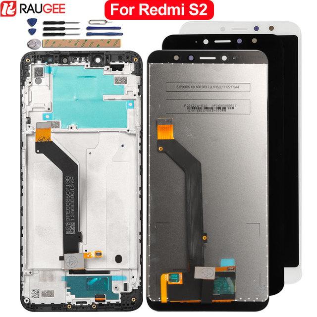 ل شاومي Redmi S2 شاشة الكريستال السائل + شاشة تعمل باللمس 100% جديد قطع غيار محول رقمي الجمعية الزجاج لوحة LCD ل شاومي Redmi S2 + أدوات