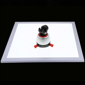 Photo Studio Fill Light LED Shadowless Light Panel Dimmable Photography Softbox Bottom Light for Food Jewelry Cosmetic Crafts
